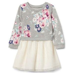 Baby Gap Winter Blooms Tulle Skirt Dress 18-24 M